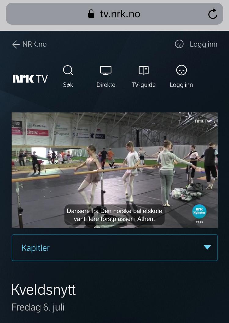 NRK TV Kveldsnytt, 6. juli 2018